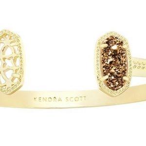 Kendra Scott Elton Gold Cuff Bracelet+ Gold Stone